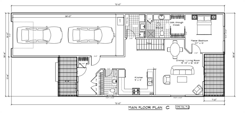 NONE Semi Detached for sale:  1 bedroom 1,092 sq.ft. (Listed 2021-02-22)
