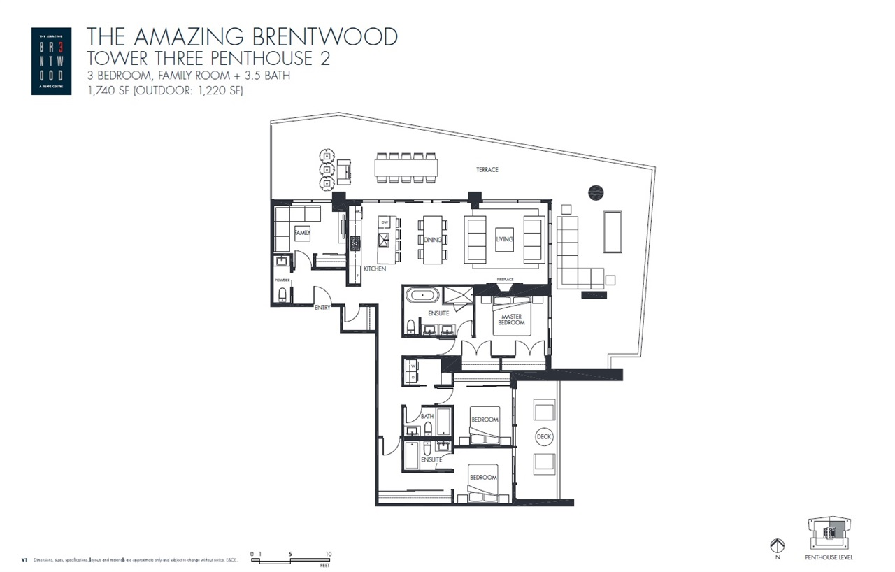 Brentwood Park Apartment/Condo for sale:  3 bedroom 1,740 sq.ft. (Listed 2020-11-17)