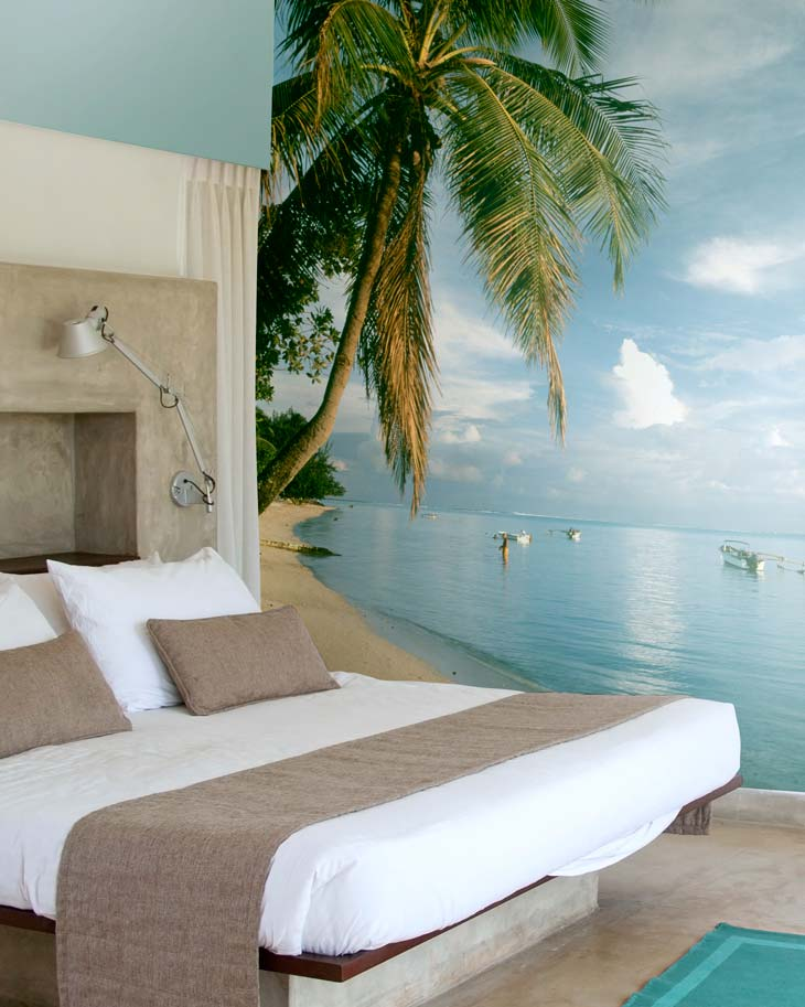 tropical bedroom mural