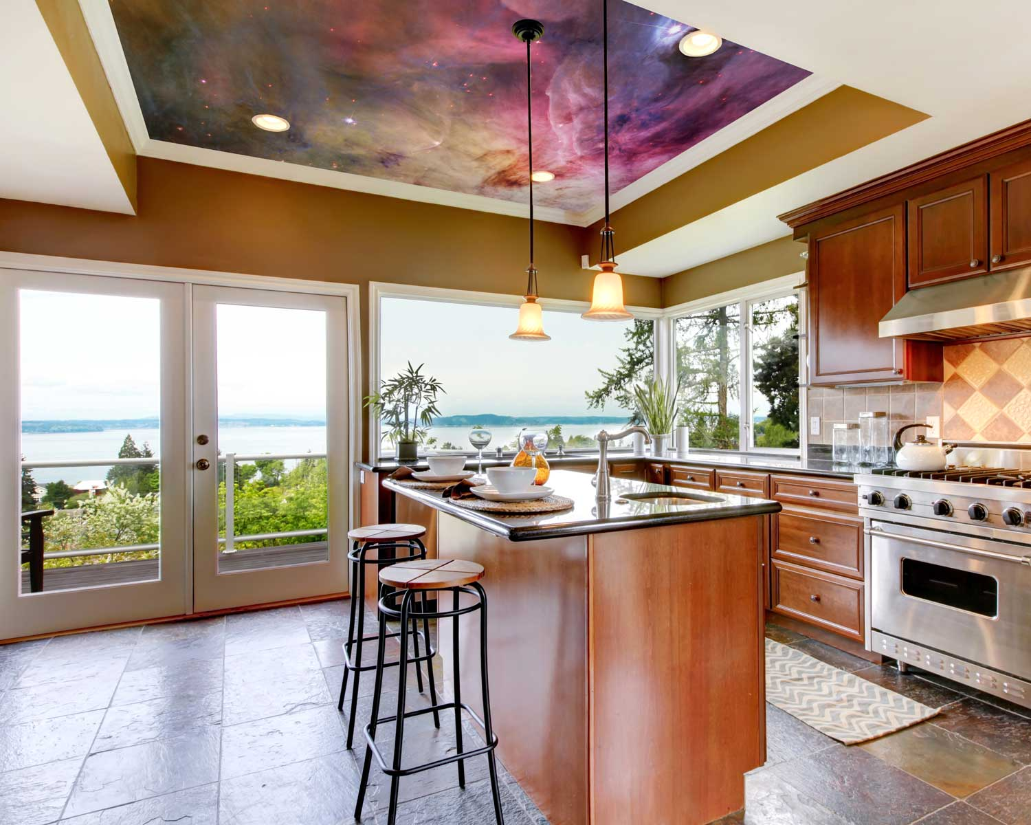kitchen ceiling mural