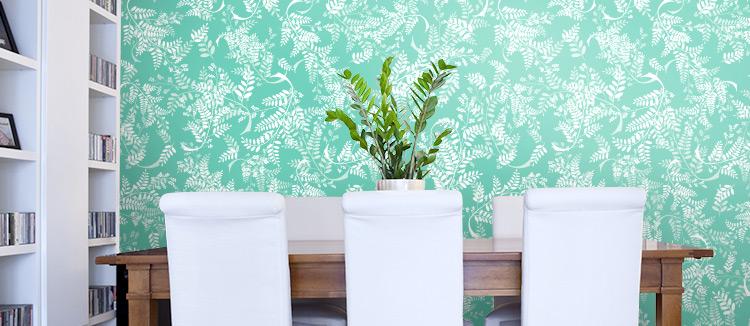 Girlfriend Floral Wallpaper in Dining Room