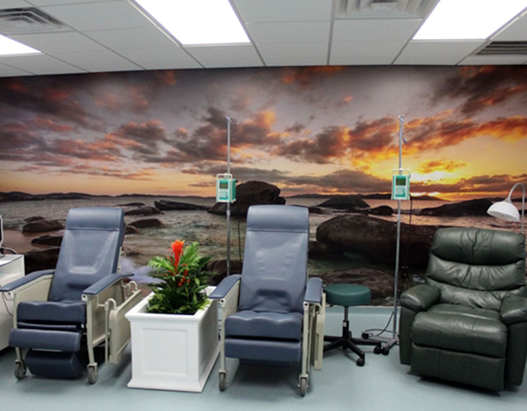 sunset beach wallpaper in salon