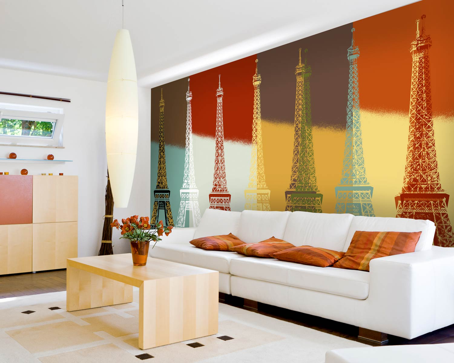 Eiffel tower accent wall
