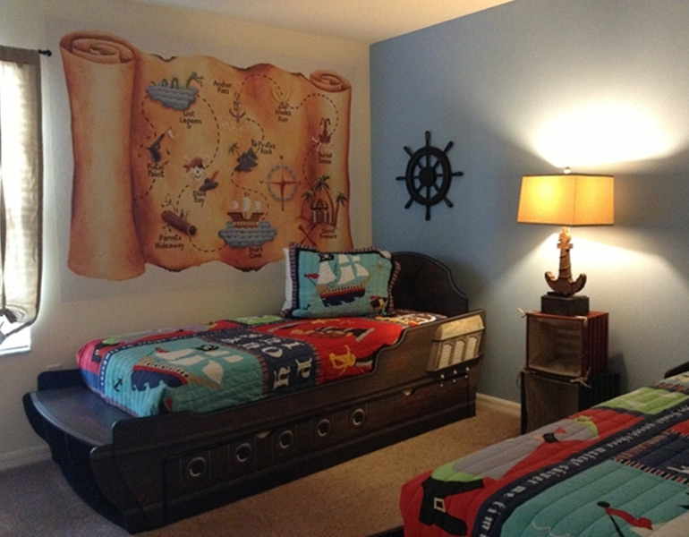kids pirate theme room