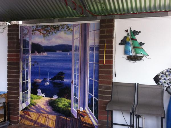 Door murals door scene wallpaper for Door wallpaper mural