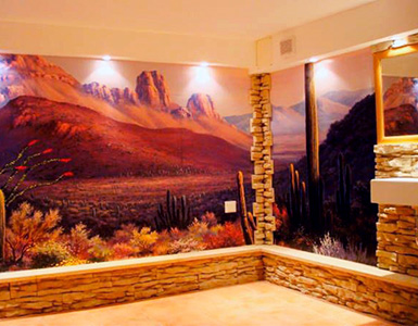 Landscape Mural in Family Room