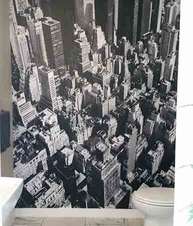 Manhattan Wall Mural in Bathroom