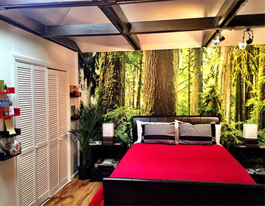 bedroom wall tree mural