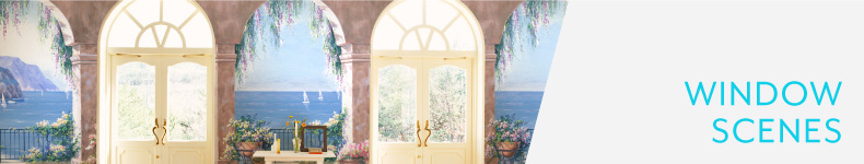 Window Scene Mural Wallpaper