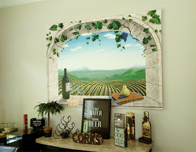 vineyard window mural