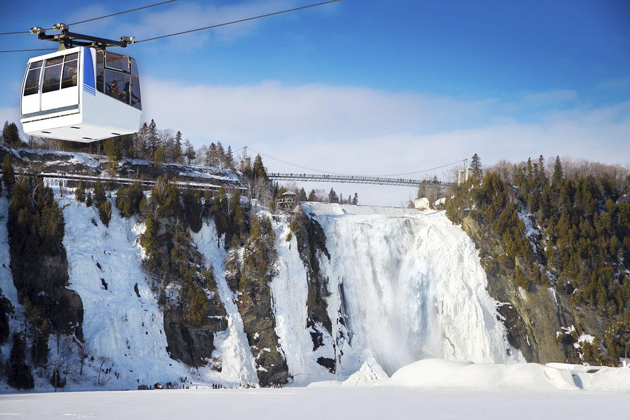 Visitez le Parc de la Chute-Montmorency en hiver - Sépaq