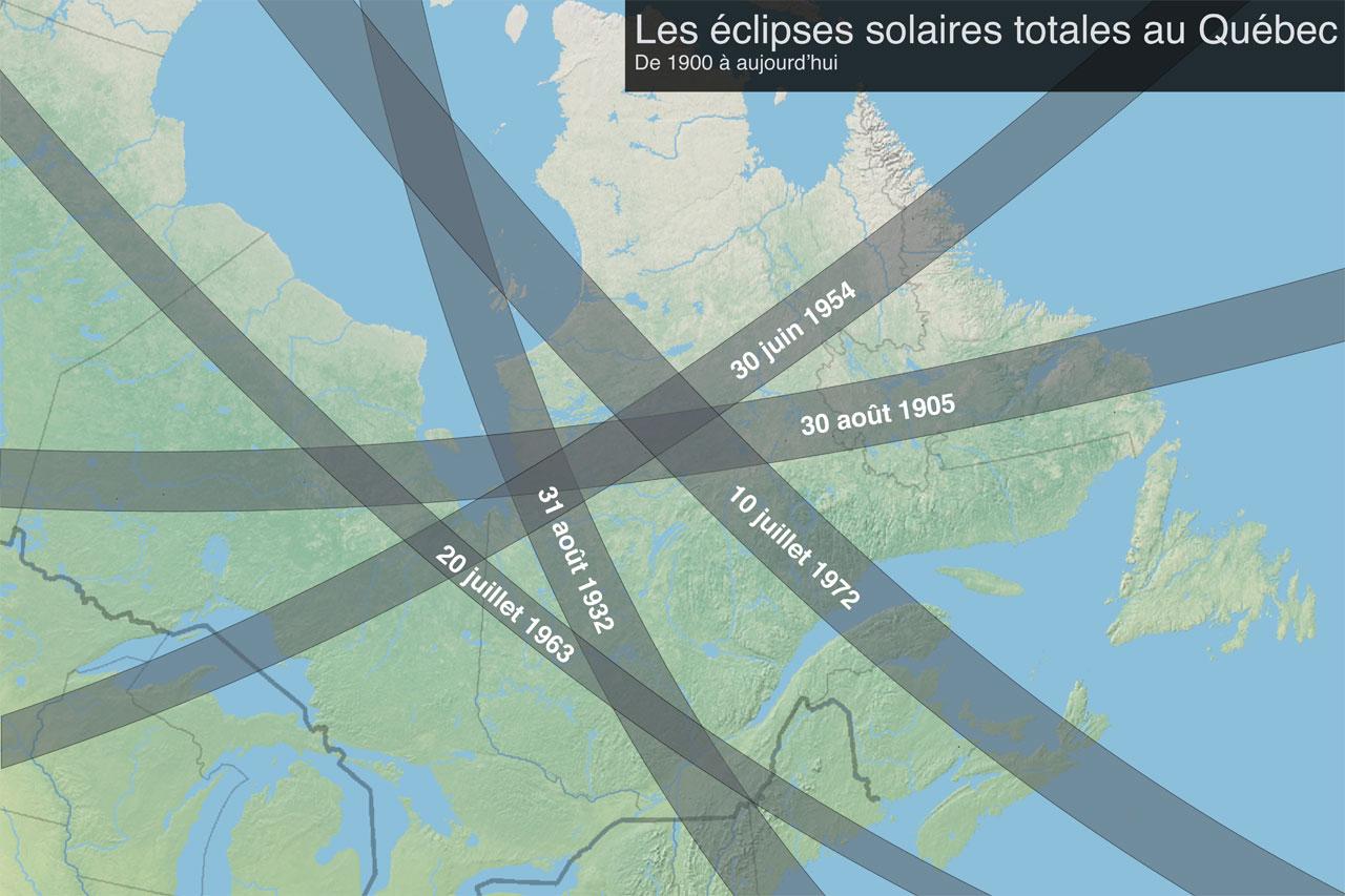 Les éclipses solaires totales au Québec