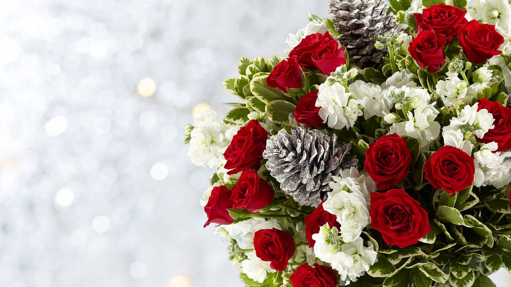 image of bouquet of flowers delivered in Norway