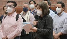 Alicia Arango, ministra del Interior, encabezó la delegación del Gobierno ante la minga en Cali. / Ministerio del Interior