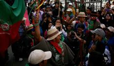 Los indígenas del suroccidente de Colombia señalaron que si el presidente no los escucha, podrían marchar hasta Bogotá. / Archivo