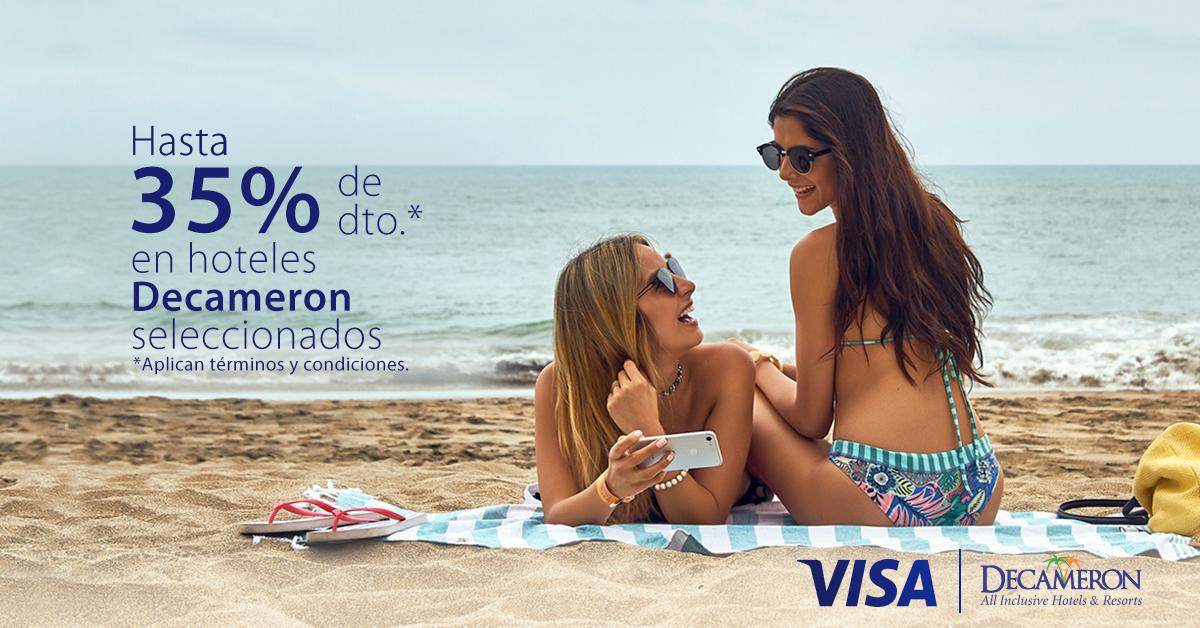 Con Visa tienes el 35% off en Hoteles Decameron