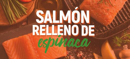 Salmón relleno de espinaca