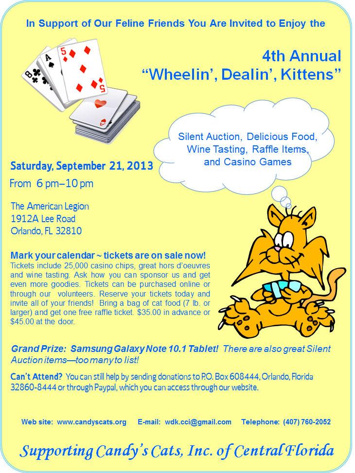 SAVE THE DATE 4th Annual Wheelin Dealin Kittens Fundraiser