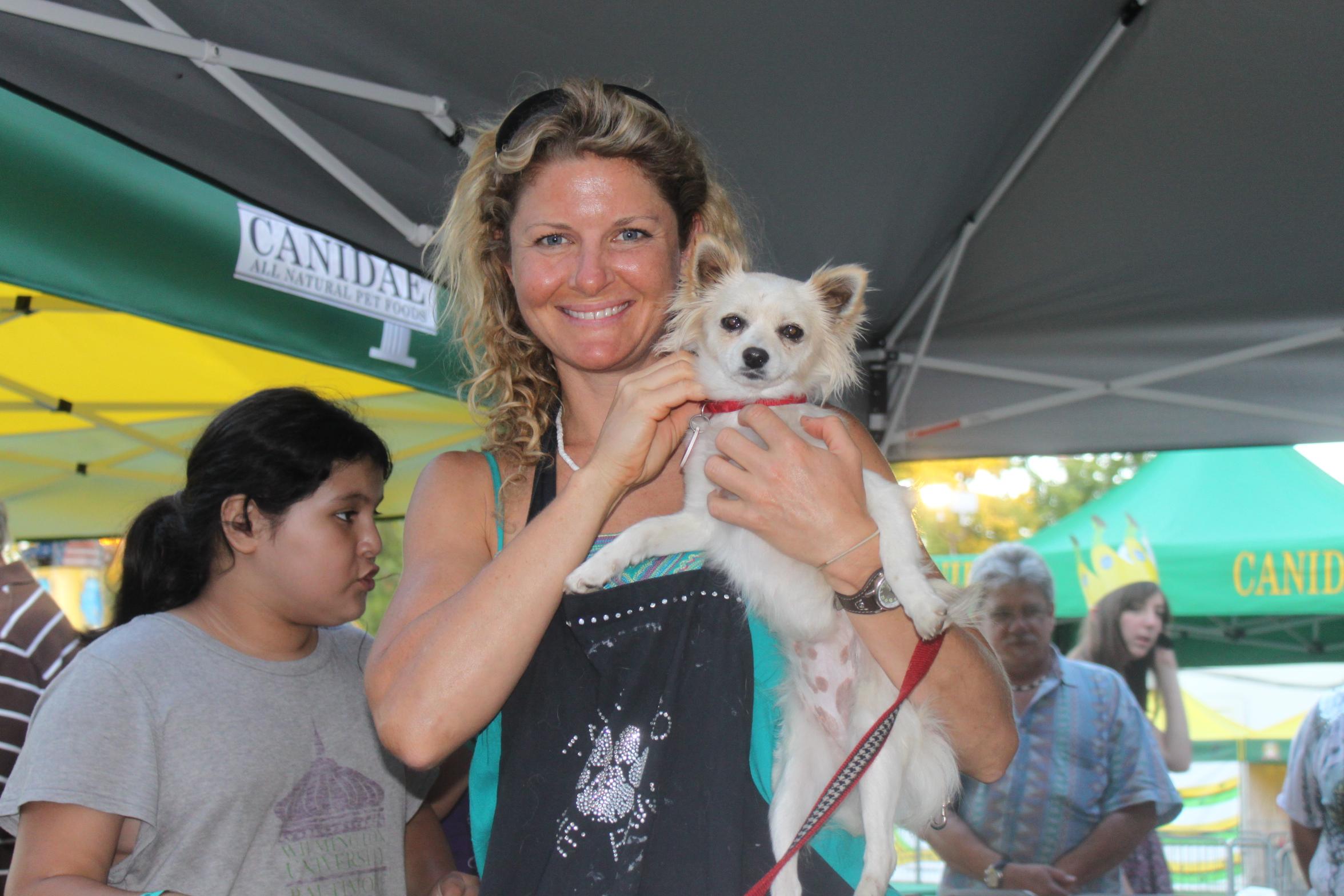 Melissa and fair dog