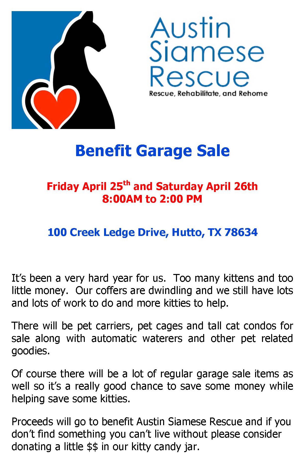 2014 Benefit Garage Sale