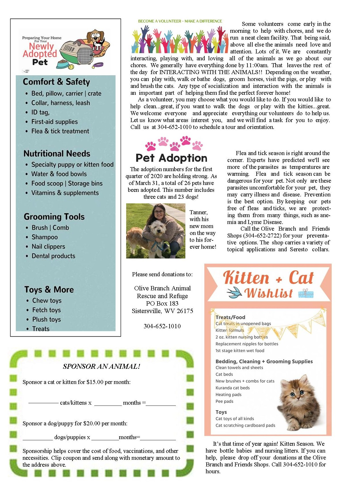 Newsletter April to June 2020 page 2