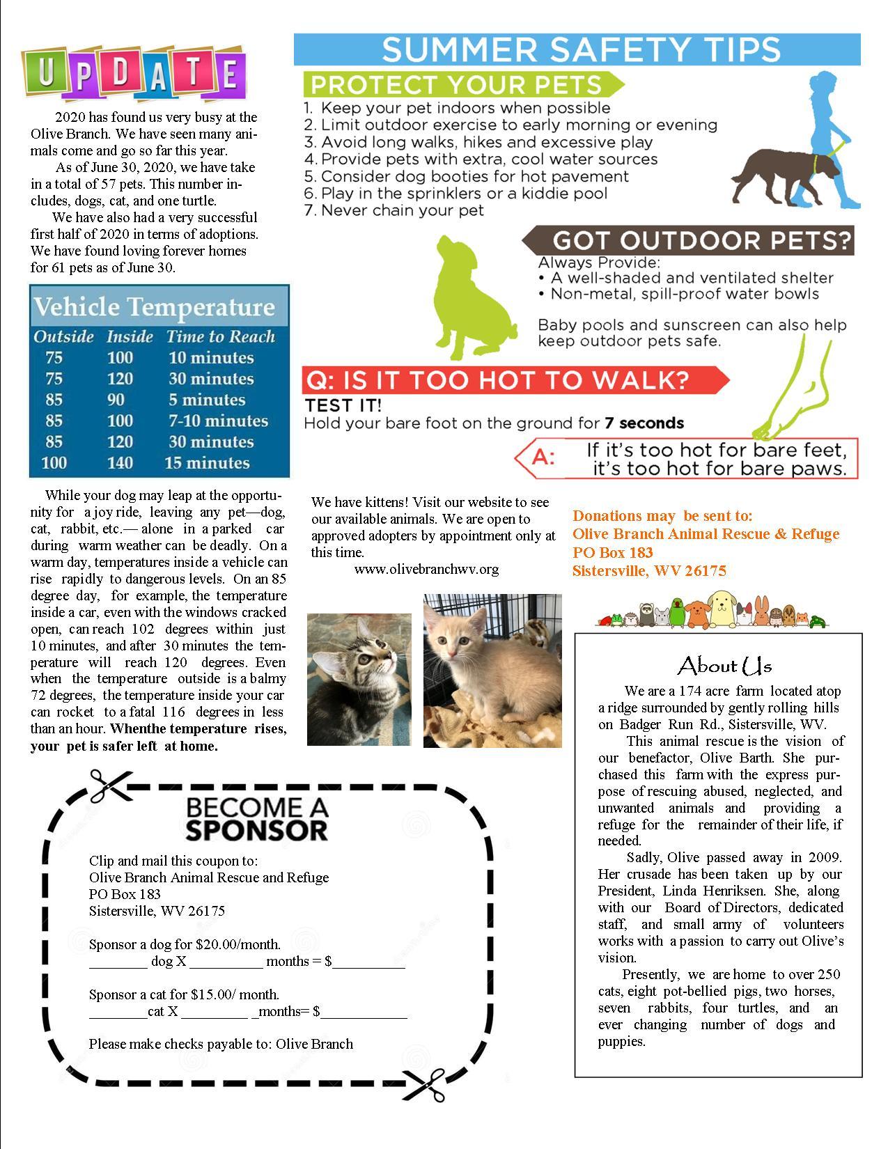 News Letter Page 2 July Sept 2020