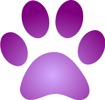 Purple Single Paw