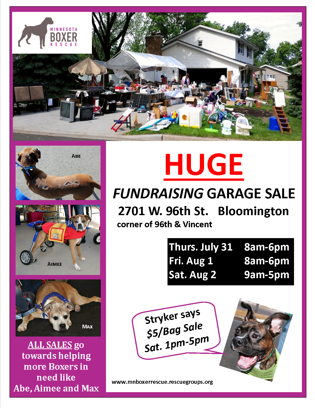 2014 Garage Sale Flyer