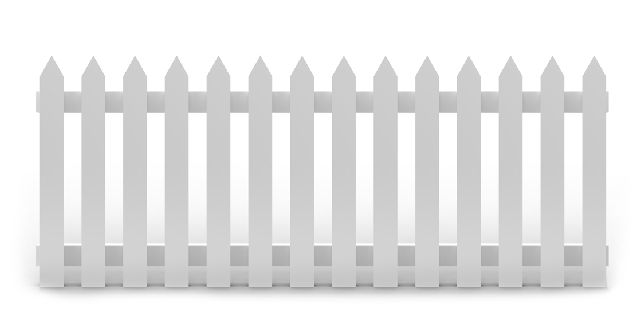fence graphic white