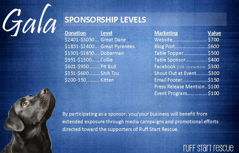 Gala Sponsorship