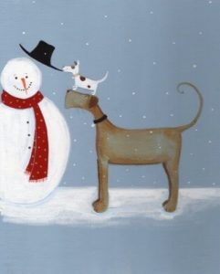 Paint Nite 12-4-16 Dog in the Snow