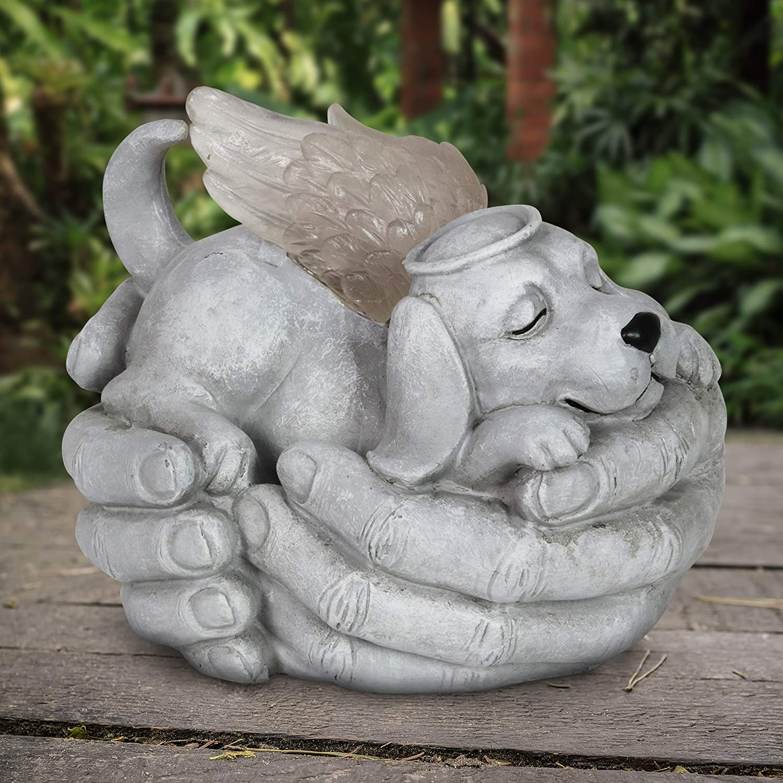 Solar Cradled Dog Angel