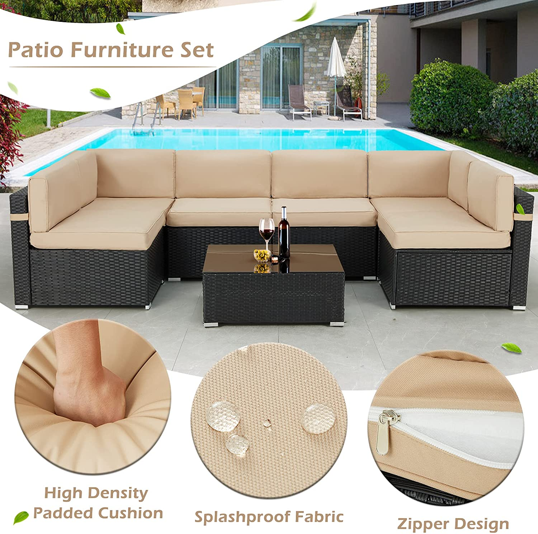 7 piece ratan furniture