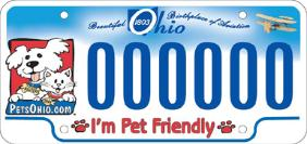 Ohio Pet Fund License Plate