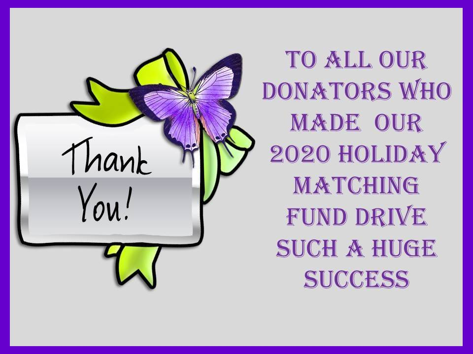 2021 Matching Funds Thank You
