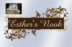 Esther's Nook Sign with Vinnie