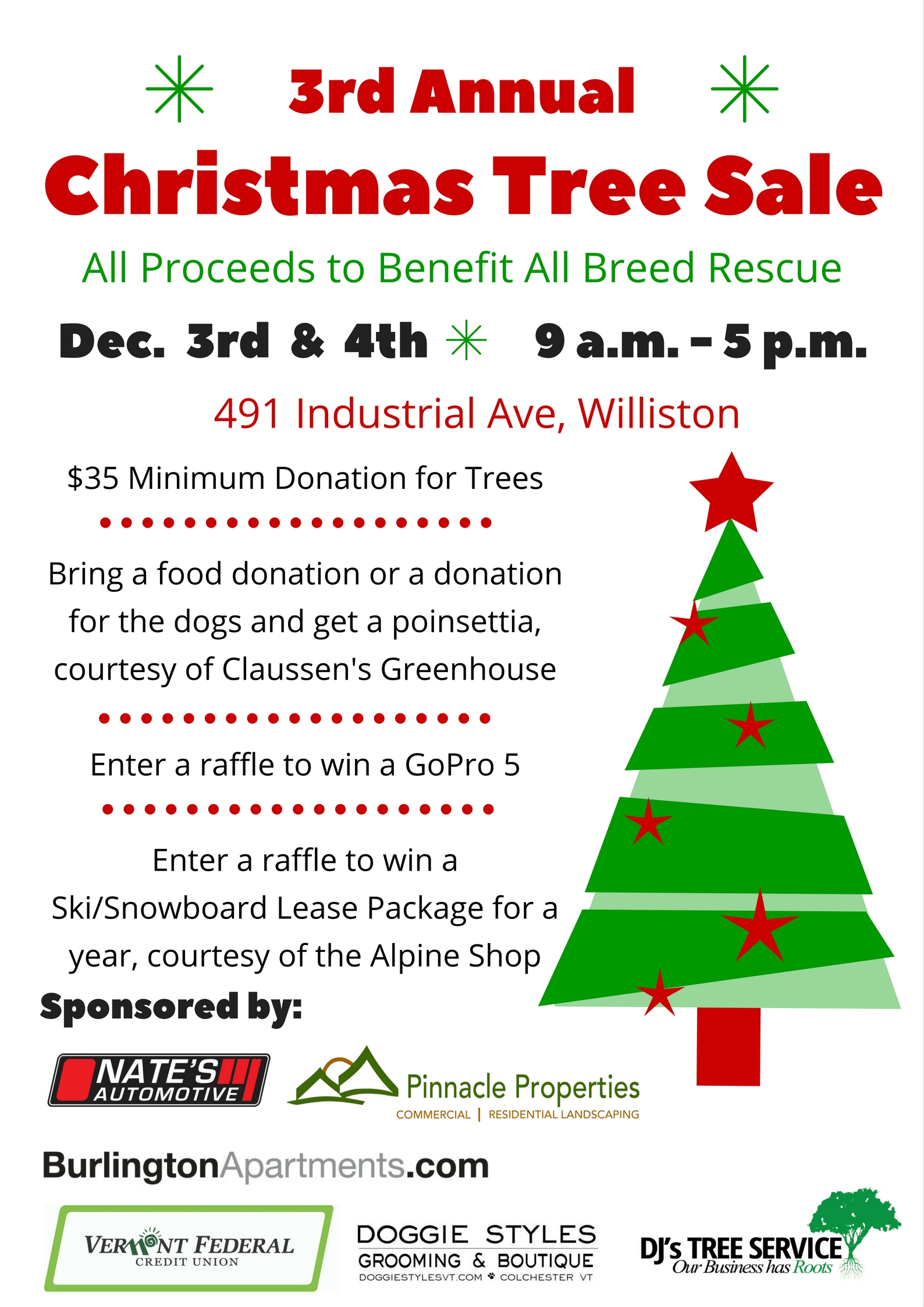 map 491 industrial avenue williston vt 05495 see all of the animals attending this event - Christmas Tree Shop Williston Vt