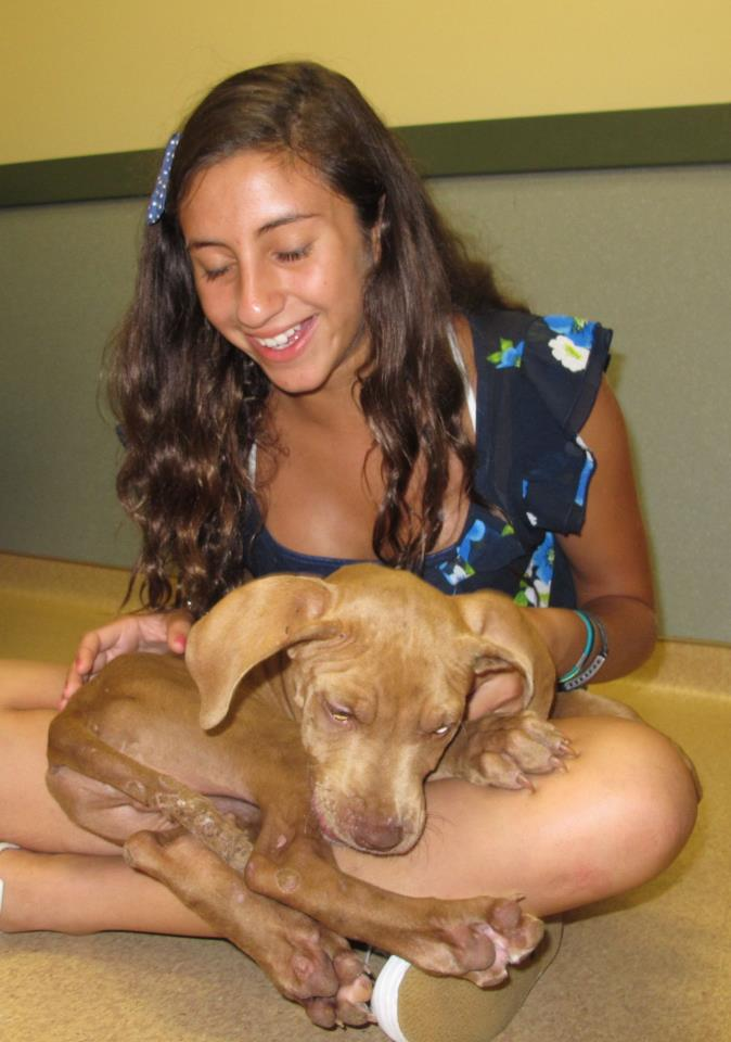 2013-WWM-Teen Volunteer with Puppy