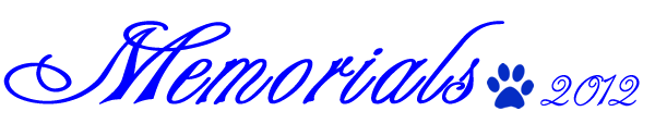 Memorials 2012 -2