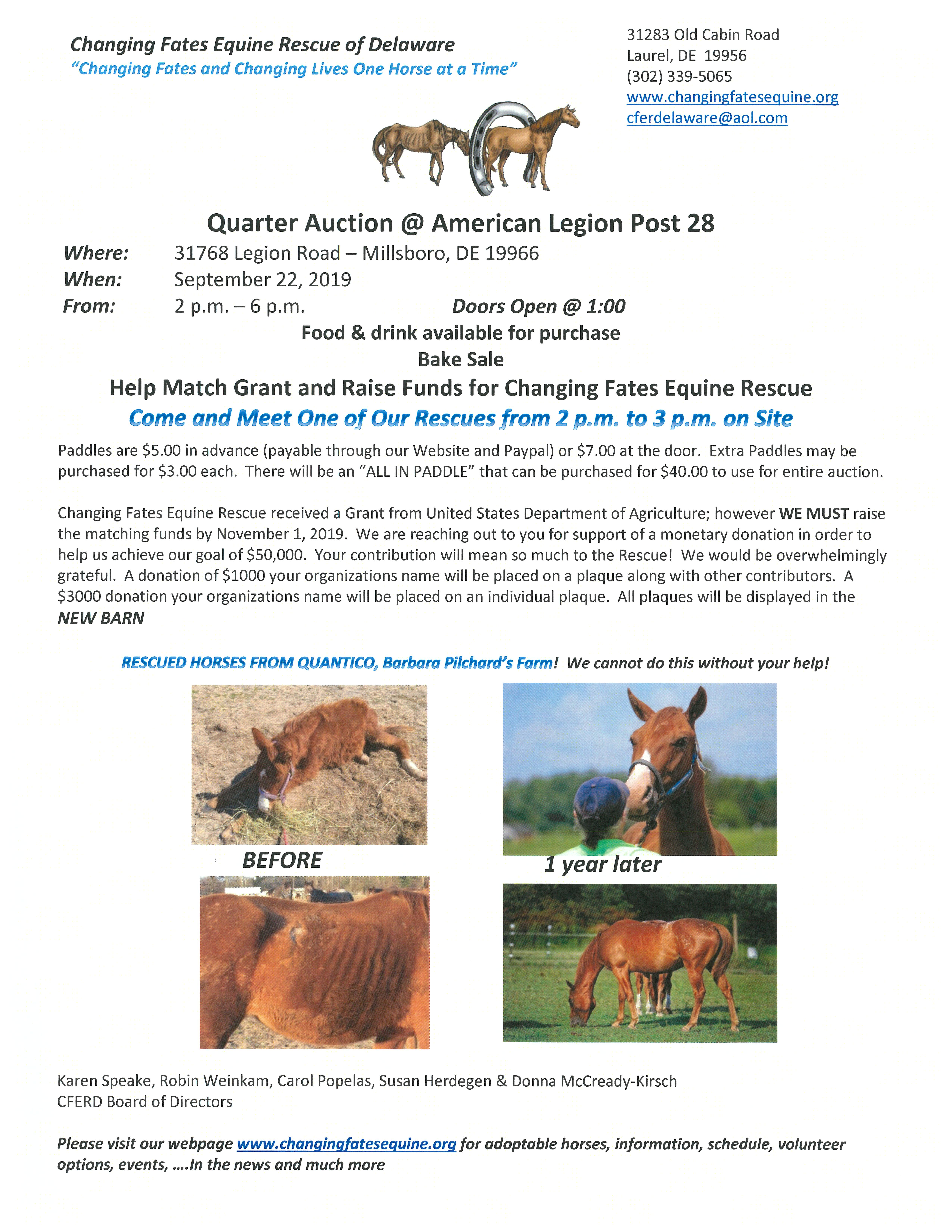 Changing Fates Equine Rescue of Delaware/>