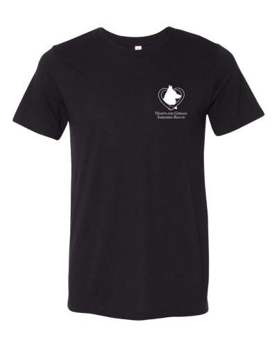 Black t-shirt front