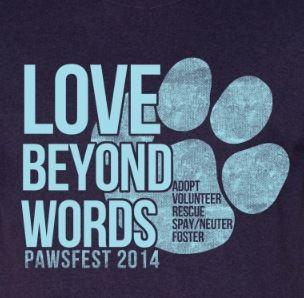 2014 Pawsfest logo