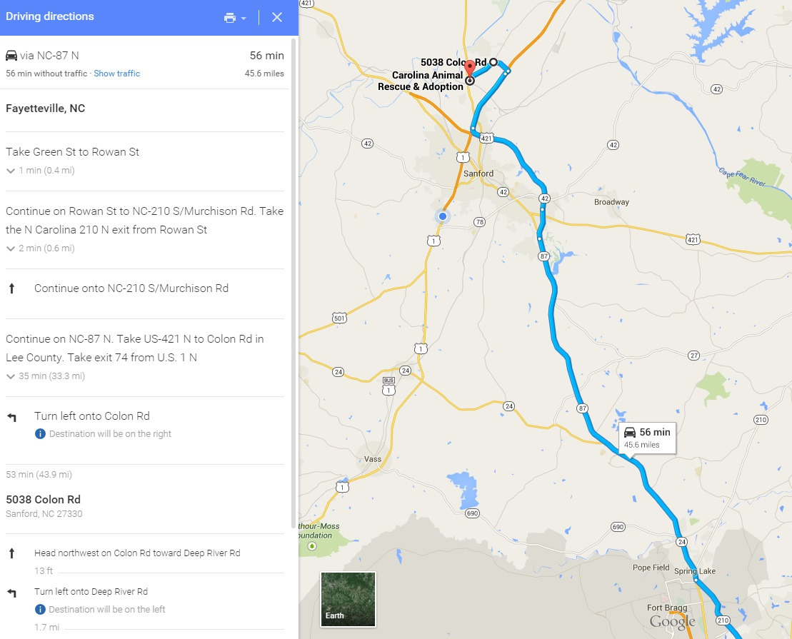 Directions To Cara