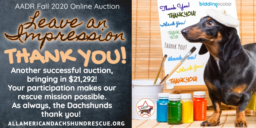 2020 Fall Auction Thank You