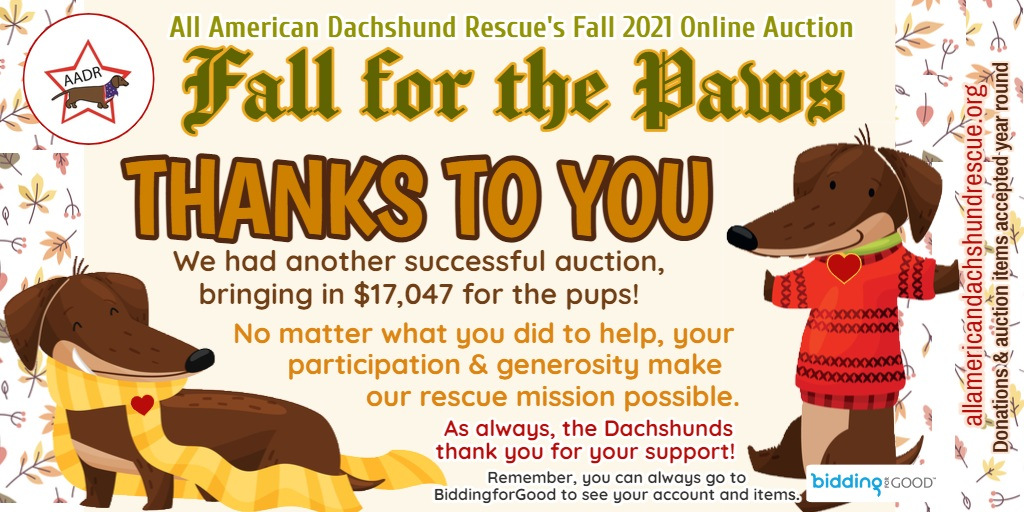 2021 Fall Auction_Thank You