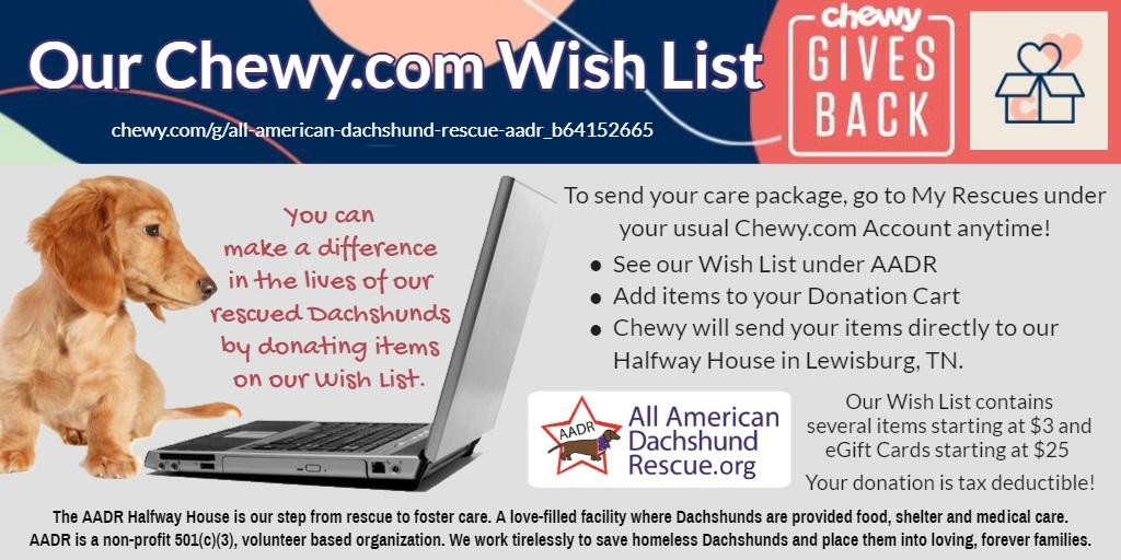 2021 Chewy Wish List
