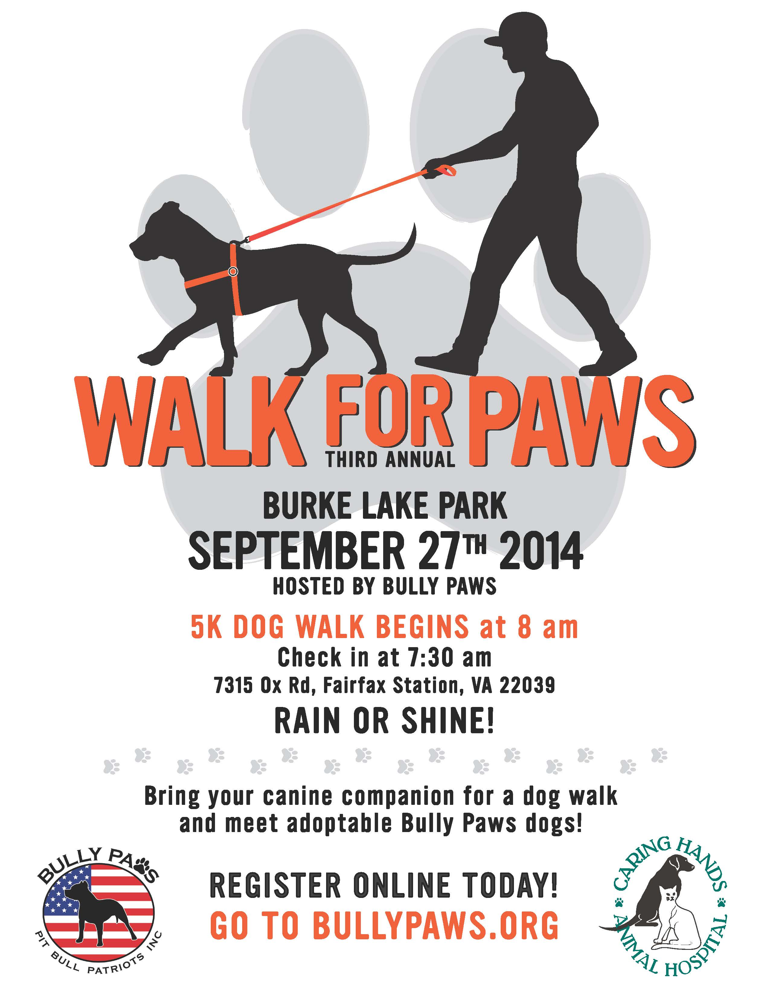 2014 Walk for Paws 5k Flyer