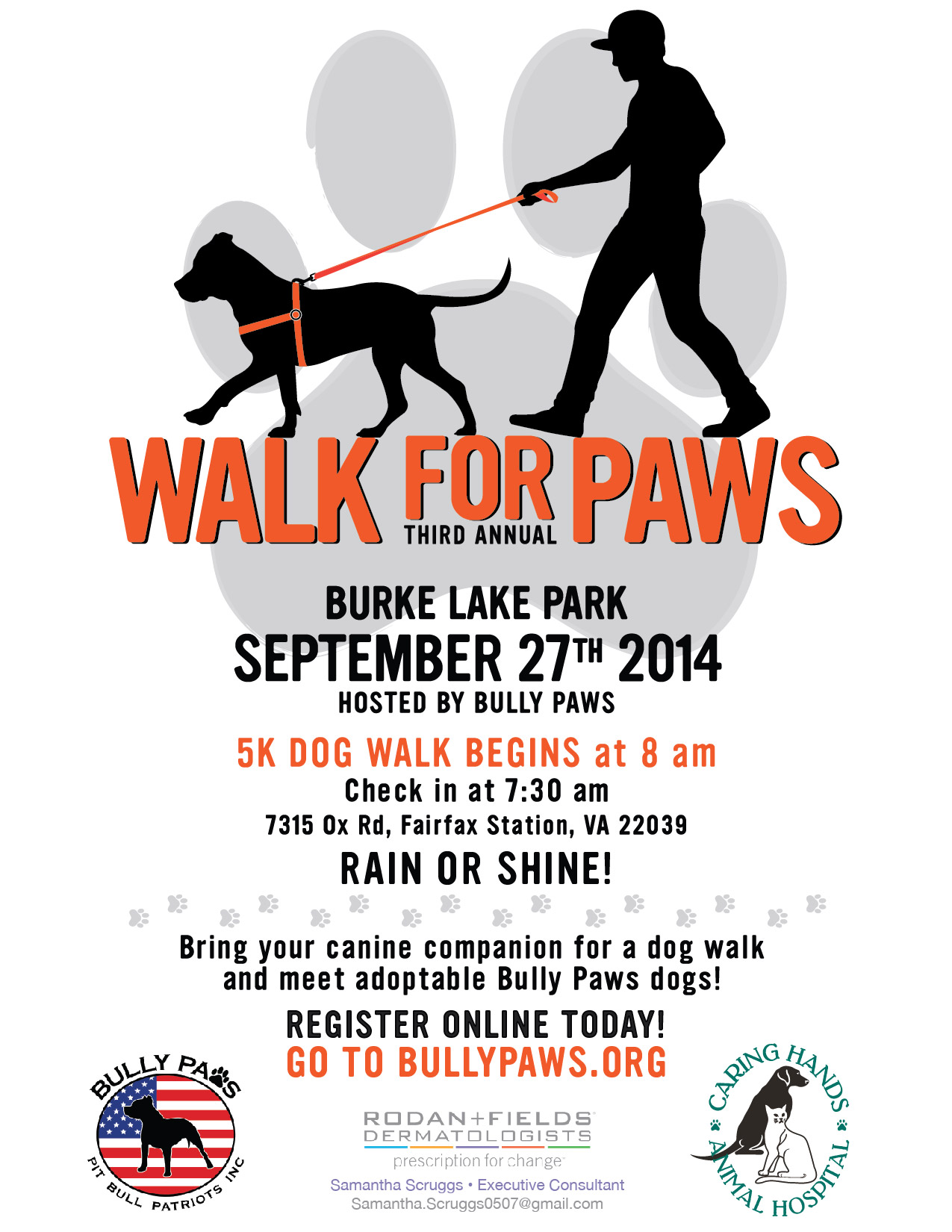 2014 Walk for Paws 5k flier v2