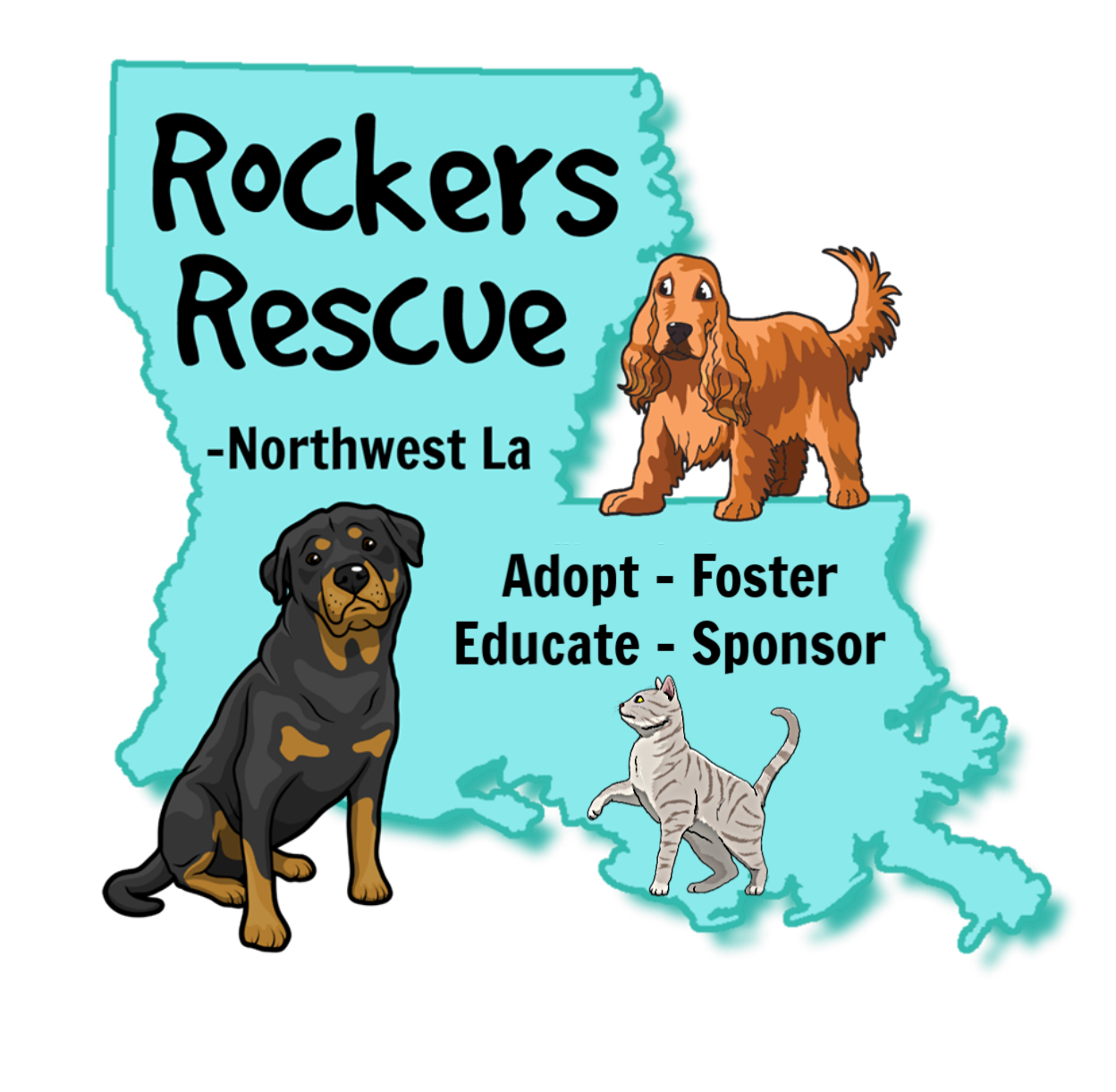 Rockers Rescue Logo -  Northwest Louisiana