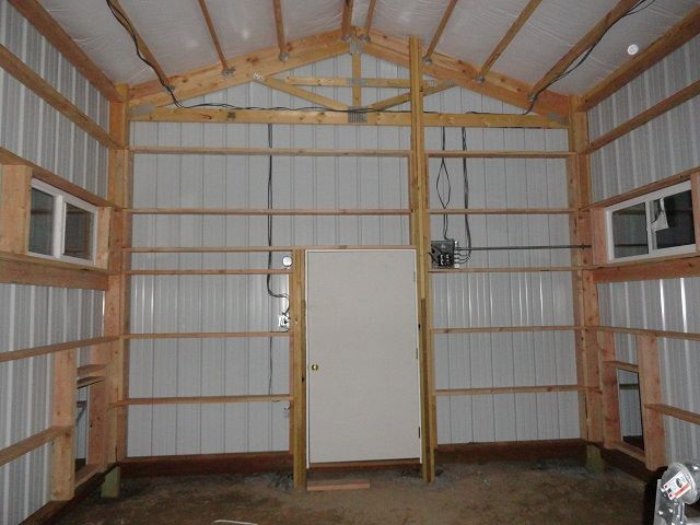 interior framing with insulation